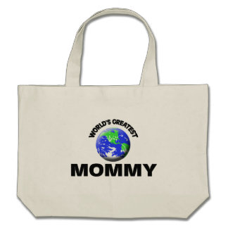 La plus grande maman du monde sacs de toile