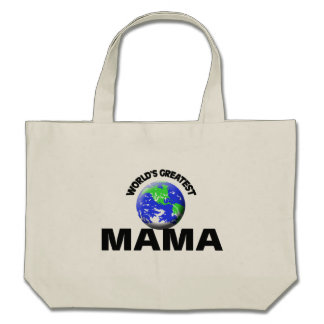 La plus grande maman du monde sac en toile