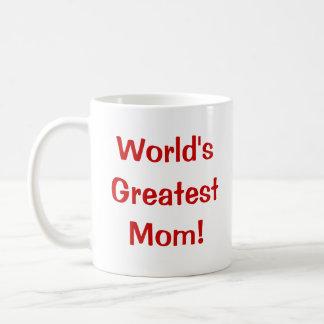 La plus grande maman du monde ! tasses