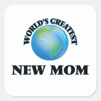 La plus grande nouvelle maman du monde sticker carré