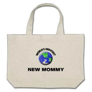 La plus grande nouvelle maman du monde sacs de toile