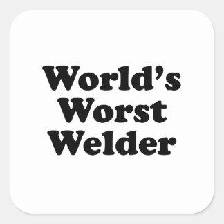 La plus mauvaise soudeuse du monde sticker carré