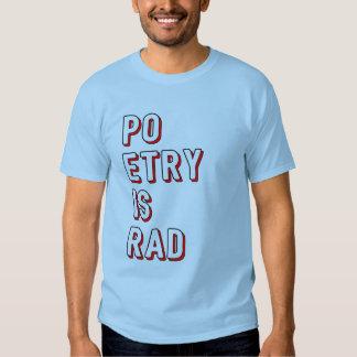 La poésie bleue est rad t-shirts