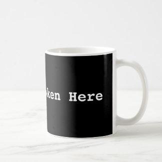 La poésie parlée ici attaquent mug