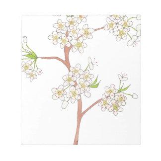 La poire ornementale fleurit aquarelle blocs notes