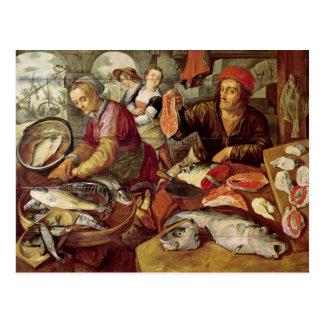 La poissonnerie carte postale