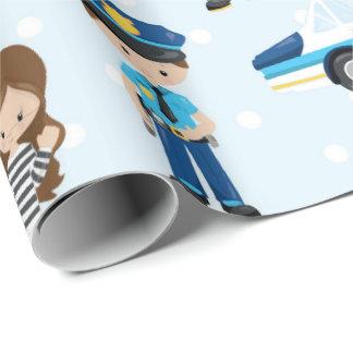 La police d'amusement modèle le papier d'emballage papier cadeau