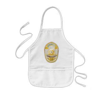 La police de Los Angeles la Californie Badge. Tablier Enfant