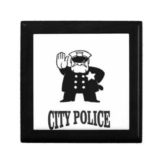 la police de ville équipe petite boîte à bijoux carrée