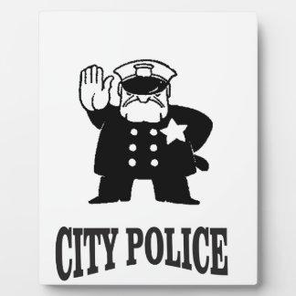 la police de ville équipe photos sur plaques