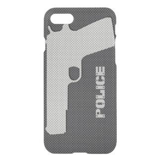 La police noire et grise faite sur commande de coque iPhone 7