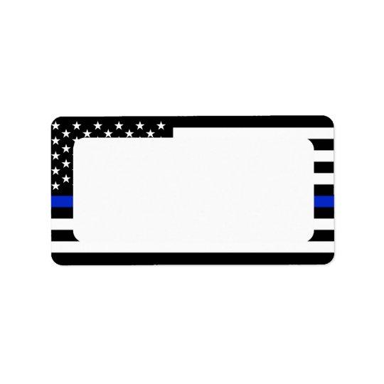 La police patriote marque l'adresse vide étiquette d'adresse
