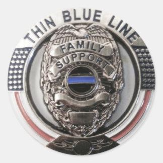 La police soutient sticker rond
