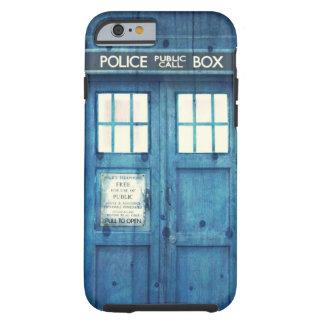 La police vintage téléphone la cabine téléphonique coque iPhone 6 tough