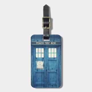La police vintage téléphone la cabine téléphonique étiquettes à bagages