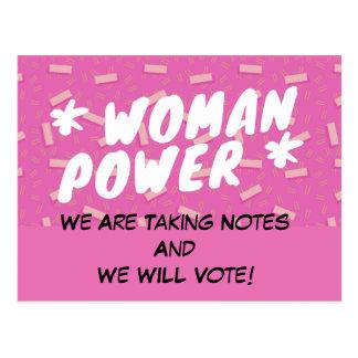 La politique de VOTE de carte postale de
