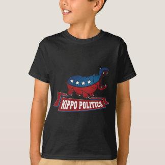La politique d'hippopotame t-shirt