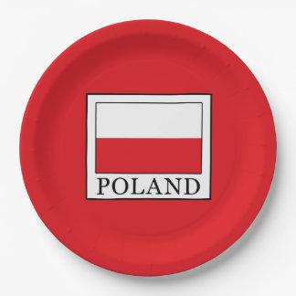La Pologne Assiettes En Papier
