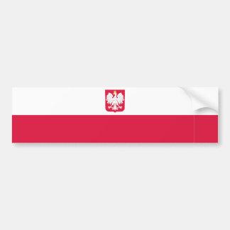 La Pologne/Polonais/drapeau polonais Autocollant De Voiture