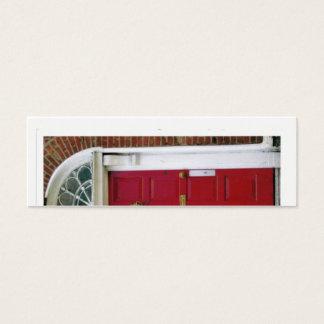La porte rouge mini carte de visite