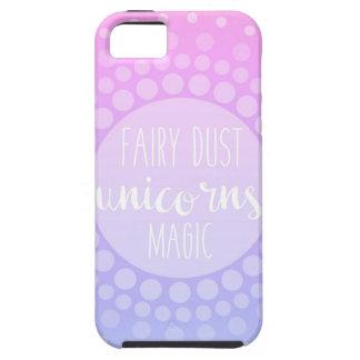 La poussière, licornes et magie féeriques coque tough iPhone 5
