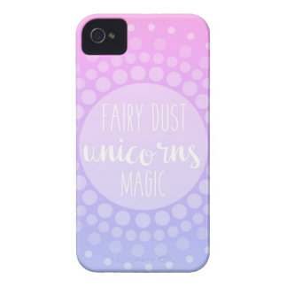 La poussière, licornes et magie féeriques coques iPhone 4