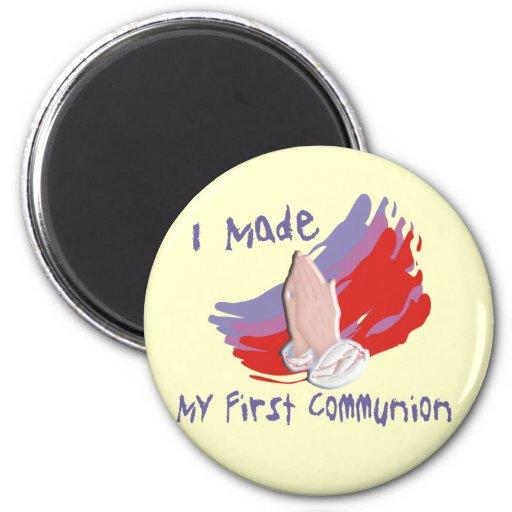 La première communion badine des chemises et des c magnet rond 8 cm