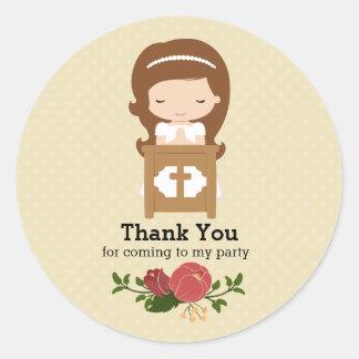 La première sainte communion * choisissez la sticker rond