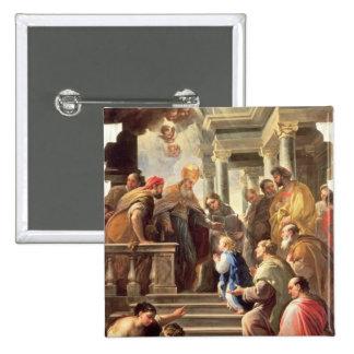 La présentation de la Vierge au temple (huile Badge
