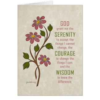 La prière de sérénité (citation de récupération) carte de vœux