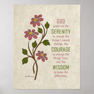 La prière de sérénité (citation de récupération) poster
