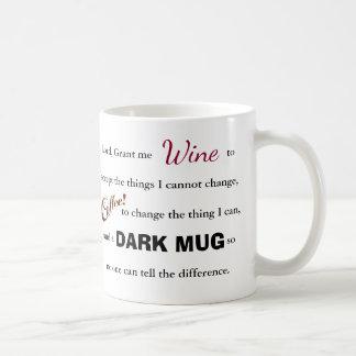La prière de sérénité de vin/café - tasse