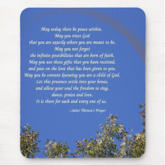 La prière de St Theresa Tapis De Souris