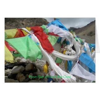 La prière d'Everest marque la carte de voeux