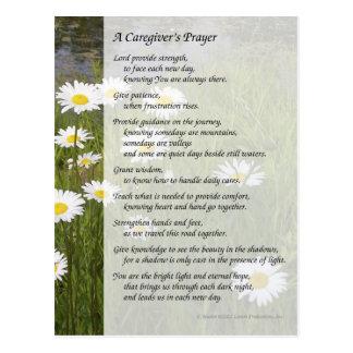 La prière d'un travailleur social - carte postale