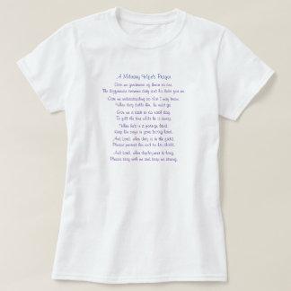 La prière d'une épouse militaire, me donnent la t-shirt