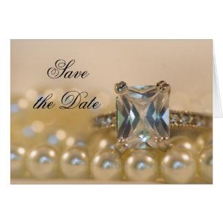 La princesse bague à diamant et perles font gagner cartes