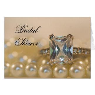 La princesse bague à diamant perle l'invitation cartes