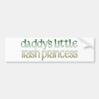 La princesse irlandaise du papa autocollant pour voiture