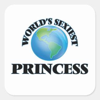 La princesse la plus sexy du monde sticker carré