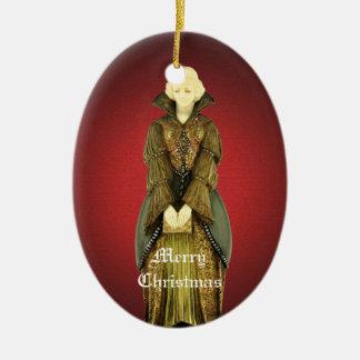 La princesse patiente Christmas Ornament Ornement Ovale En Céramique