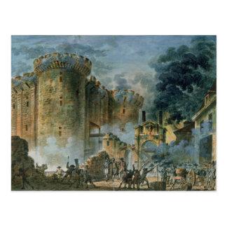 La prise de la bastille, le 14 juillet 1789 carte postale