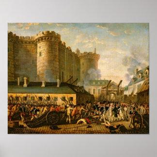 La prise de la bastille, le 14 juillet 1789 posters