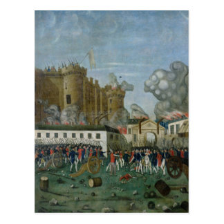 La prison de bastille, le 14 juillet 1789 carte postale