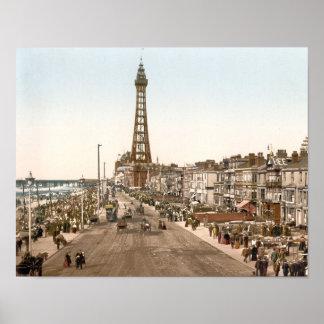 La promenade, Blackpool, Angleterre Posters