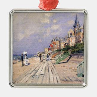 La promenade chez Trouville Claude Monet Ornement Carré Argenté