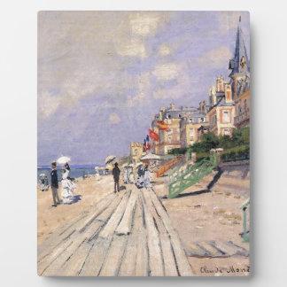 La promenade chez Trouville Claude Monet Plaque D'affichage