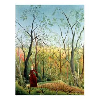 La promenade dans la forêt, 1886-90 carte postale