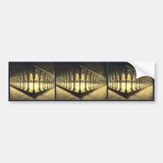 La promenade des moines, St Michel, cru de Mont de Autocollant De Voiture