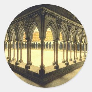 La promenade des moines, St Michel, cru de Mont de Sticker Rond
